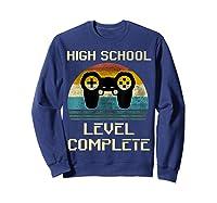 2019 High School Graduation Shirt Gamer Graduation Gifts-min Sweatshirt Navy