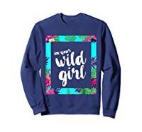 Funny Free Woman T Shirt Frame Of Flora And Fauna Sweatshirt Navy