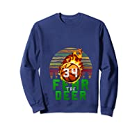 R The Deer Gift For Milwaukee Basketball Bucks Fans Fire Shirts Sweatshirt Navy