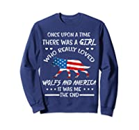 Once Upon A Time Wolf America 4th Of July T Shirt Gifts Sweatshirt Navy