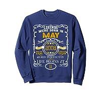 May 2008 11th Birthday Gift 11 Years Old For Shirts Sweatshirt Navy