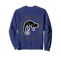 Chameleon Karma 80 S Retro 1980 S Pop Club Culture Shirts Sweatshirt Navy