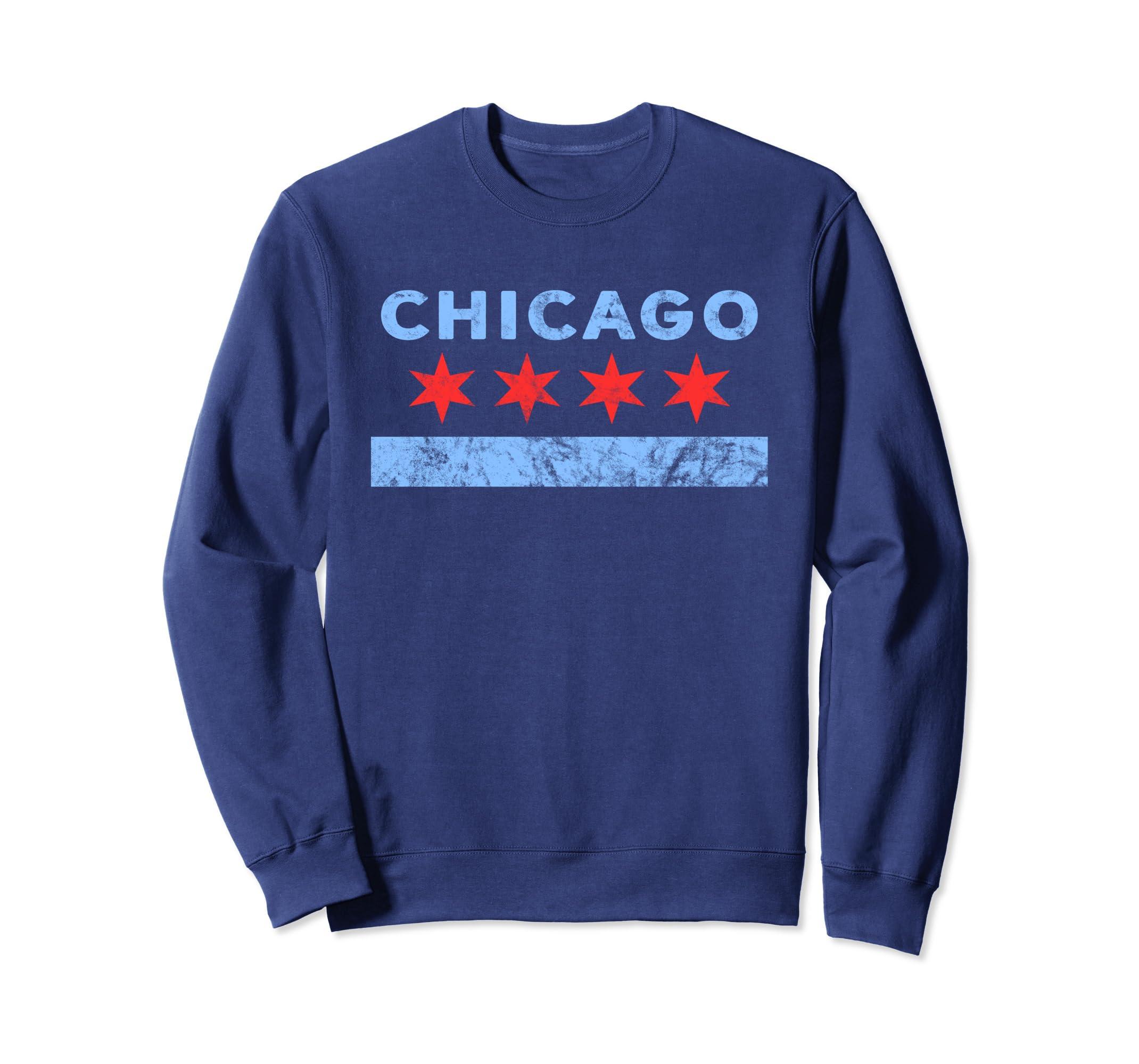 Chicago Sweatshirt – Chicago Flag Sweatshirt-Teehay