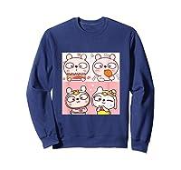 Super Cute Silly Rabbit Love Story Unisex Humor T Shirt Sweatshirt Navy