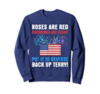 Put It In Reverse Back Up Terry Fireworks 4th Of July Shirts Sweatshirt Navy