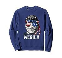 Kennedy Merica 4th Of July President Jfk Gifts Shirts Sweatshirt Navy