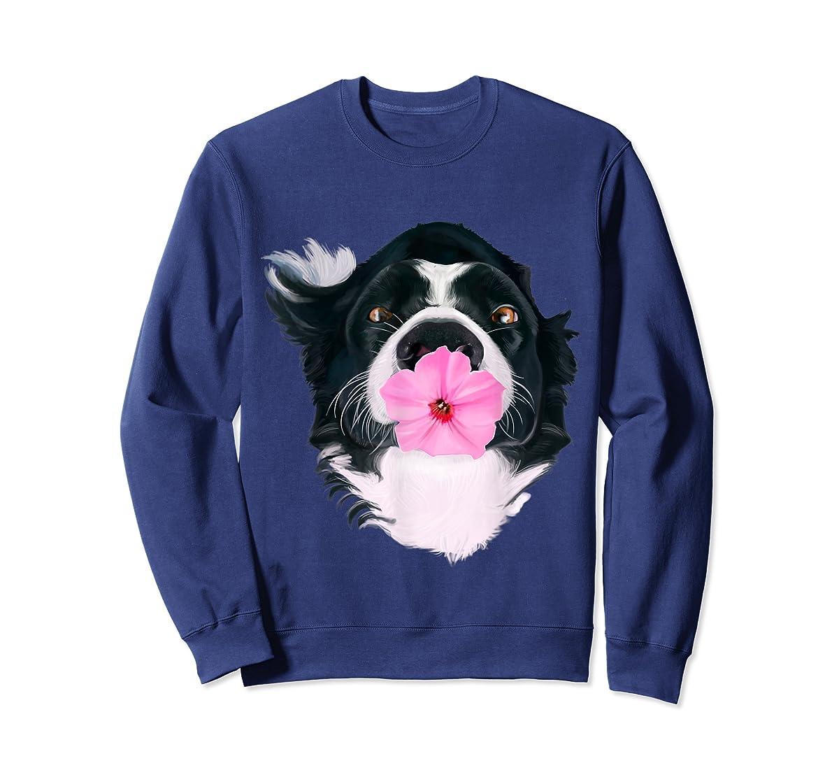 Border Collie Sweet Dog T-Shirt Dogs Tee Shirt Gifts-Sweatshirt-Navy