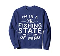 Michigan I'm In A Fishing State Of Mind Vacation Shirts Sweatshirt Navy
