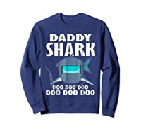 Welder Daddy Shark Funny Family Shark Christmas Gift Shirts Sweatshirt Navy