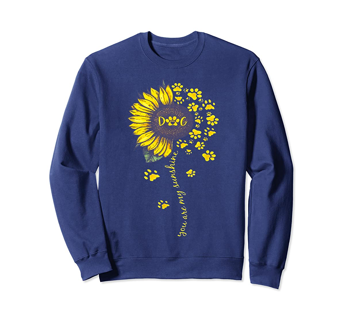 You Are My Sunshine Dog Tshirt-Sweatshirt-Navy