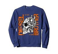 Diesel Power Truck Turbo Brothers Mechanic Shirts Sweatshirt Navy
