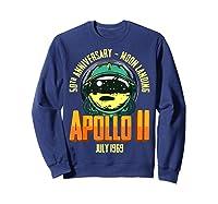 Apollo 11 50th Anniversary Shirts Sweatshirt Navy