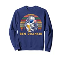 Ben Drankin 4th July Independence Day Party Shirts Sweatshirt Navy