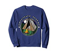 Adventure Seeker T Shirt Camping Outdoor Travel Sweatshirt Navy