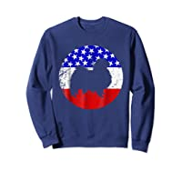 American Flag Japanese Chin Japanese Chin Dog Shirts Sweatshirt Navy