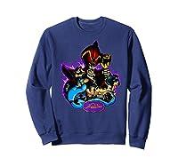Disney Aladdin Main Cast Collage Portrait Logo Premium T-shirt Sweatshirt Navy