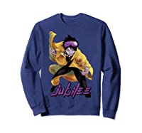 X Jubilee Modernized Classic Look Graphic Shirts Sweatshirt Navy