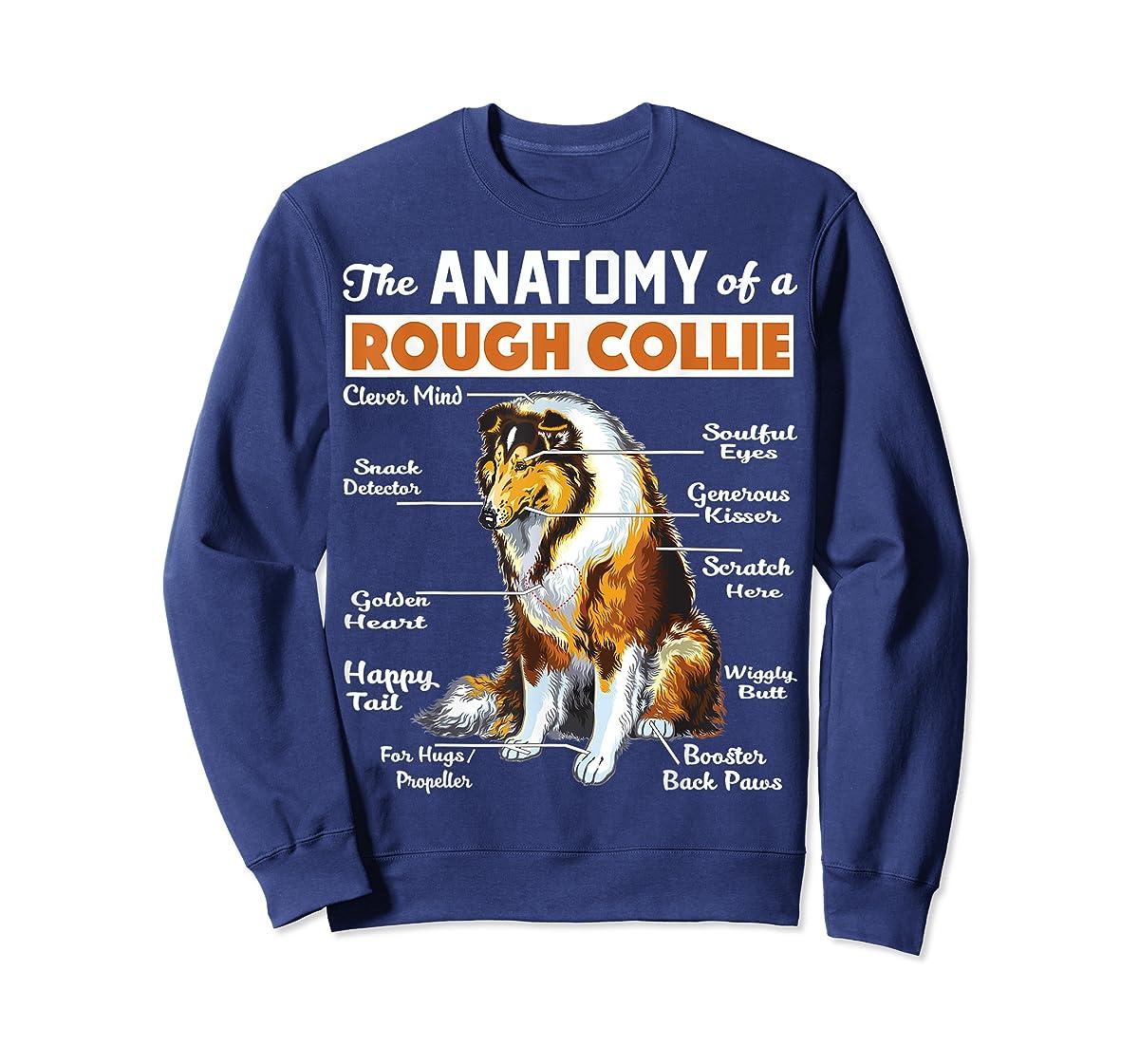 The Anatomy Of A Rough Collie-Sweatshirt-Navy