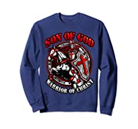 Knights Templar Tshirt Son Of God Warrior Of Christ Sweatshirt Navy