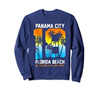 Pa City Beach 2018 Florida T Shirt Beach Lovers Gift Sweatshirt Navy