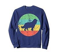 Cavalier King Charles Spaniel Retro Dog Shirts Sweatshirt Navy