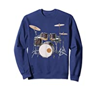 Awesome Drum Set Rock Music Band Shirts Sweatshirt Navy