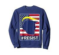 Resist Protest Rebel Political Anti Trump Impeach T Shirt Sweatshirt Navy
