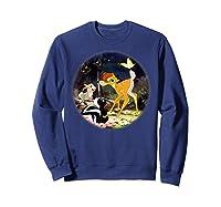 Disney Bambi Forest Scene T Shirt Sweatshirt Navy