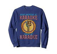 Karaoke Music Gifts Sing Music Bar Singer Vegas Style Mic Shirts Sweatshirt Navy