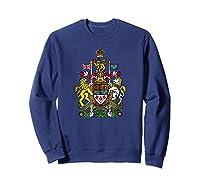 Canada Coat Of Arms Flag Souvenir Ottawa Shirts Sweatshirt Navy