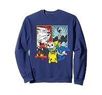 Alola Starters With Legendaries Shirts Sweatshirt Navy