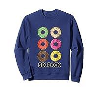 Funny Donut Six Pack Muscle T Shirt Sweatshirt Navy