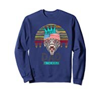 Funny Fathers Day Best Dad Ever Gorilla 4th Of July Premium T-shirt Sweatshirt Navy