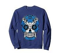 Scottish Flag Sugar Skull Shirts Sweatshirt Navy