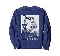 Vintage Washington Dc District Of Columbia T Shirt Sweatshirt Navy