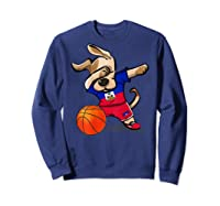 Dog Dabbing Haiti Basketball Haitian Sport Team Shirts Sweatshirt Navy