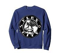 Flex City Feed Me More Nutrition T Shirt Sweatshirt Navy