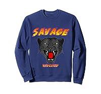Savage T Shirt Wild Black Panther Focused Sweatshirt Navy