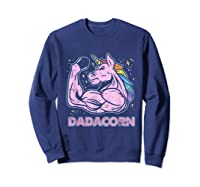 Father's Day Gif Funny Dadacorn Shirts Sweatshirt Navy