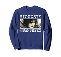 Siouxsie And The Banshee Siouxsie Sioux T Shirt Sweatshirt Navy