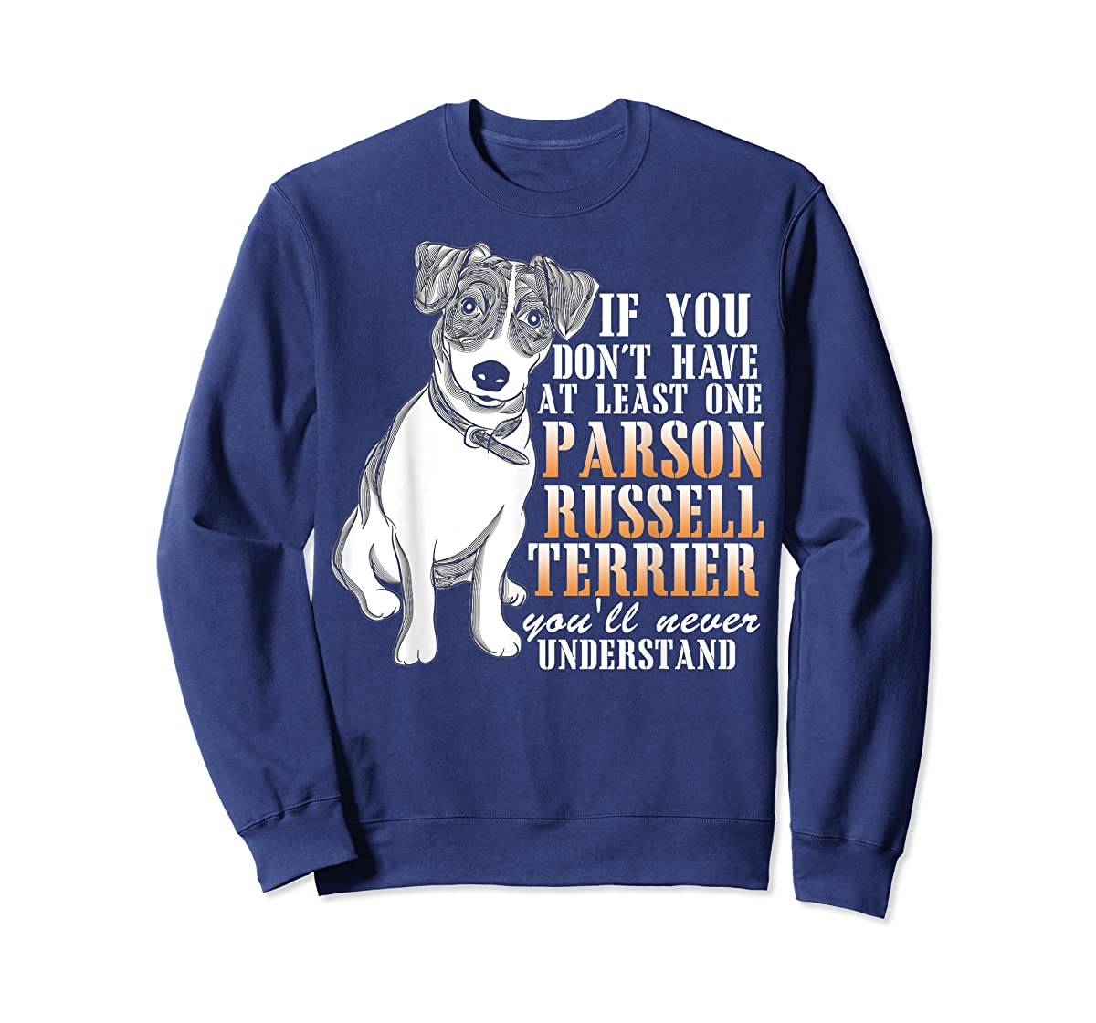 Parson Russell Terrier T Shirt, I Love My Dog T Shirt-Sweatshirt-Navy