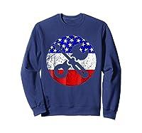 American Flag Car Mechanic Shirt - Screwdriver Wrench Shirt Sweatshirt Navy