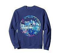Watercolor Las Vegas Shirt Nevada City Gift Sweatshirt Navy