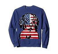 Funny Hovawart American Flag 4th Of July Shirts Sweatshirt Navy