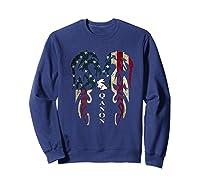 Qanon Rabbit Flag T Shirt Sweatshirt Navy