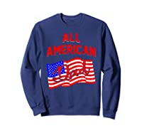 All American Dad 4th Of July Independence Day Shirts Sweatshirt Navy