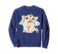 Cute Flying Unicorn Pig, Pigicorn Unipig Tshirt Sweatshirt Navy