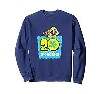 Spongebob Squarepants 20 Years Of Spongebob T-shirt Sweatshirt Navy