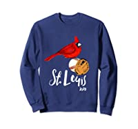 Saint Louis Red Cardinal Shirt 2019 Bird Player Sweatshirt Navy