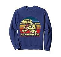 Fatherhood Like A Walk In The Park Father's Day Gif Shirts Sweatshirt Navy
